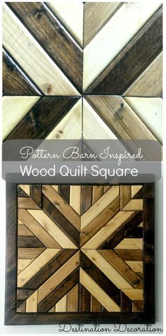 Instructions for how to make your own Pottery Barn-inspired wood quilt square for a fraction of the price.