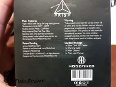 Modefined Prism 250W pre-series. Look at the 'Standard Package' content: 1 x Prism DNA 250 Device.