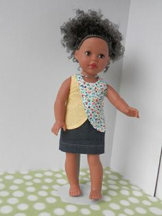 Breezy Day:  Shirt (Liberty Jane pattern) and denim skirt $12