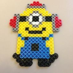 Despicable Me Beedo Minion perler beads by plur_warrior_armor