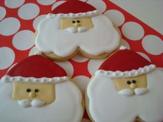 santa cookies (heart shape cookie cutters)