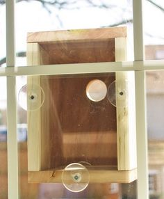 How To Build A Window Bird House For Under 20 Dollars Step By Step Easy Fun DIY.  So cool!  Would make a great science project and watch birds too!