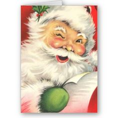 Vintage Christmas Santa Claus Greeting Cards