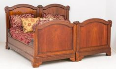 Fabulous Quality Mahogany French Double Bed. - Antiques Atlas