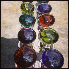 Glass knobs Photo by merlinglass