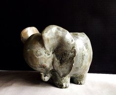 Vintage Ceramic Elephant Planter Pot Elephant by pippamarxstudio, $30.00