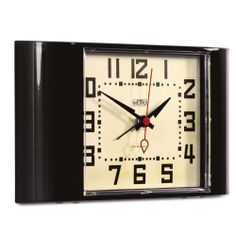 Mini Metro Alarm Clock - Black - 11 x 18 x 3.5cm from Newgate Clocks