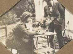 Vanessa Bell and Duncan Grant at Charleston House, Lewes, East Sussex