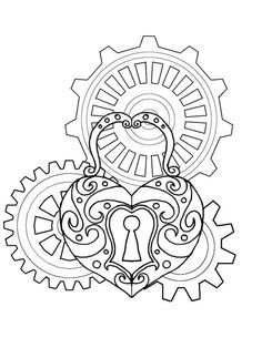 coloring pages steampunk - Google Search