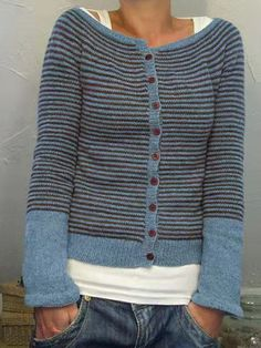 Trendy Button Long Sleeve Stripe Casual Sweater For Women - NewChic Sweater Coats, Sweater Cardigan, Cardigan Sweaters For Women, Long Cardigan, Casual Sweaters, Pulls, Types Of Sleeves, Winter Fashion, Knitting