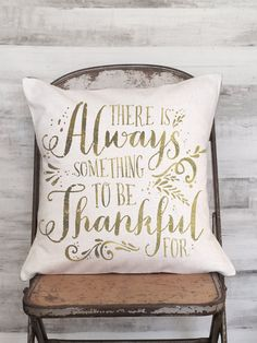 Pillow Cover There's Always Something to be by JolieMarche on Etsy