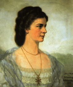 Empress Elisabeth of Austria (Sisi, due to the movie also known now as Sissi, 1837-1898) 1914 Posthumous portrait by H. Schminher.