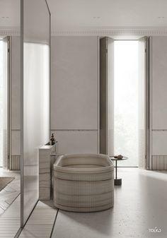 Contemporary Bathroom Design - Interior Decor and Designing Master Bedroom Design, Bathroom Inspiration, Interior Inspiration, Interiores Design, Bathroom Interior, Interior Architecture, Furniture Design, House Design, Home Decor