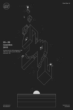 Illustration & Animation: Nicolas Ménard Art Direction & Graphic Design: Studio Pilote A poster design for the 2015 Souk in Montreal Graphic Design Posters, Type Posters, Graphic Design Typography, Graphic Design Illustration, Graphic Design Inspiration, Typography Poster, Web Design, Layout Design, Motion Poster
