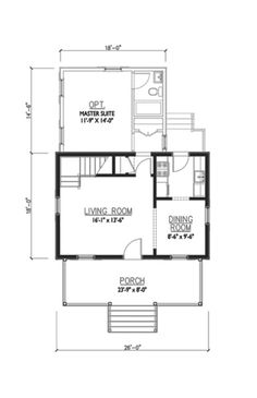 houseplans cottage main floor plan plan #479-10 the woodland