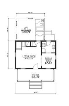 Houseplans.com Cottage Main Floor Plan Plan #514-13