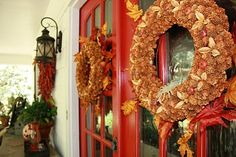 """""""Fall"""" in love ... red front doors! Love this time of year! Happy Fall Ya'll!!!"""