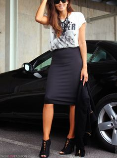 Pencil Skirts are Ideal for Day to Night/Casual to Dressy Outfit Transformations.