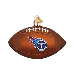 Tennessee Titans Football Glass Ornament