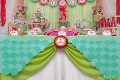 festa infantil pequena sereia