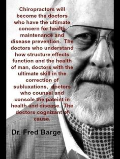 Chiropractors have understood long time ago how structure can influence the function and the health of man.