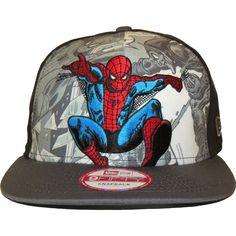 New Era 9Fifty Hero Break Out Spiderman Snapback Cap   New Era Cool Hats b6eeeb98b43