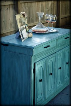 I found a sewing cabinet at our Goodwill and had to have it. I have seen so many sewing cabinet projects lately I really wanted to do m. Turquoise Dresser, Turquoise Furniture, Colorful Furniture, Trendy Furniture, Upcycled Furniture, Antique Furniture, Distressed Furniture, Painted Furniture, Redoing Furniture