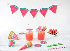 Sommer-Accessoires für eine Melonen-Mottoparty! & Freebies