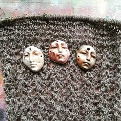 A MotherThread in progress. Which Earth Shard face to use? #motherthreads #knittery #earthshards