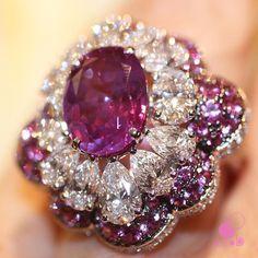Pink sapphire and diamonds by graffdiamonds