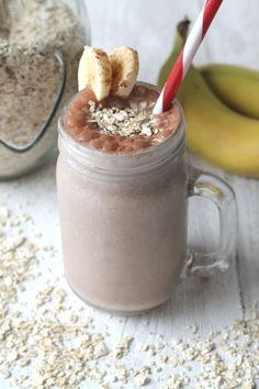 Healthy Breakfast Recipes for Kids - A super tasty and healthy breakfast smoothie. And it's Chocolate and Banana flavoured - great for kids and adults too!  {gluten free and dairy free option too}