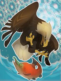 Eagle + Sockeye Salmon by skulldog on DeviantArt
