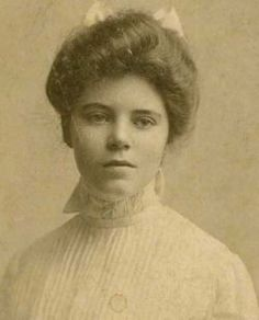 "Alice Paul, suffragist--an educated woman of the Quaker religion which taught equality of men and women.  In 1917 she was arrrested and imprisoned with more than 30 other women who were tortured, beaten, then force fed after staging a hunger strike. She was then put into a sanitarium with the hopes of being declared insane. Her doctor replied, ""Courage in women is often mistaken for insanity."" The 19th Amendment passed in 1920.  She died in 1977."