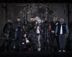 First Look of Upcoming Suicide Squad film revealed and its Badass.  The Characters in the above Poster from left to right are Adam Beach (Slipknot), Jai Courtney (Boomerang), Karen Fukuhara (Katana), Cara Delevingne (Enchantress), Joel Kinnaman (Rick Flag), Margot Robbie (Harley Quinn), Will Smith (Deadshot), Adewale Akinnuoye-Agbaje (Killer Croc) and Jay Hernandez (El Diablo)
