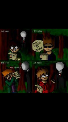 If Edd, Tom, Matt, and Tord played slender.... Tom's face XD