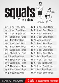 Squats workout challenge - Men's Fitness 30 Days PushUp Challenge – Squats workout challenge Squat Workout, Gym Workout Tips, Plank Workout, Workout Schedule, Workout Calendar, Workout Men, Cycling Workout, Workout Exercises, Workout Plans