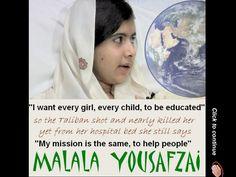 The story of Malala Yousafzai. (Nikos) by Nikos via slideshare