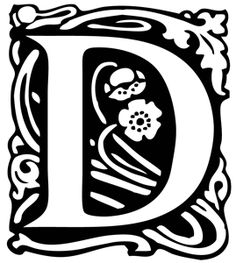 D Alfred  letters for foil project