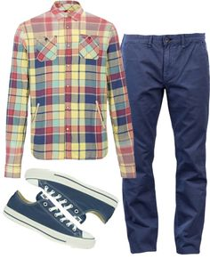"""Updated Plaid Shirt For Men"" by mssalise on Polyvore"
