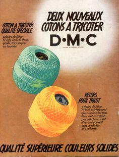 """Magazine """"Jeux d'aiguilles"""" n° 57 - mai 1939 - publicité pour les cotons à tricoter DMC."""