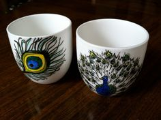 peacock cups