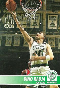 Dino Radja - Hoops!!!! Boston Celtics #40 - NBA. It's amazing that I'm a C's fan considering the team I watched growing up consisted of Sherm Douglas, Rick Fox, Dino Radja, Eric Montross, and Dee Brown.