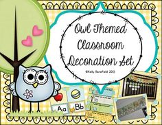 Do you love decorating your classroom with owls as much as I do? If you do, then this these super cute owl printable classroom decor set is just right for you. Over 250 pages are included in this owl theme packet.