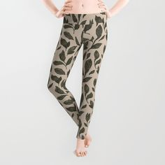 Buy Leaf Pattern Leggings by Jessica Roux . Worldwide shipping available at Society6.com. Just one of millions of high quality products available.