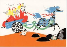 Tove Jansson - Fillyjonks and horse Primadonna postcard (Who Will Comfort Toffle?) via Kiosk Mamymuminka (Moomin PL) Moomin Valley, Tove Jansson, Children's Book Illustration, Book Illustrations, Little My, Inner Child, A Comics, Knitting Projects, Childrens Books