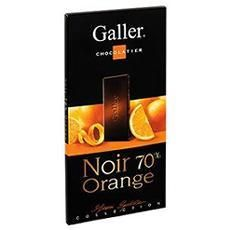 Galler-tablette-Chocolat-Noir 70%-Orange-80gr www.chockies.net