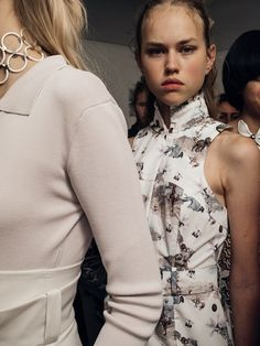 Backstage at Anne Sofie Madsen SS16