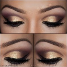 Golden Smokey Eye Look