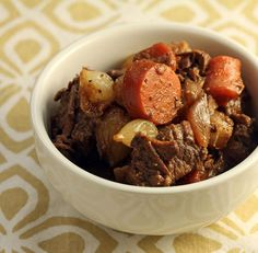 Slow cooker honey-Sriracha beef stew, from The Perfect Pantry.