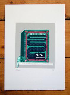 Oolong Screenprint by peskimo on Etsy, £48.00